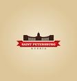 Saint Petersburg Russia city symbol vector image