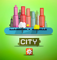 Spring City vector image