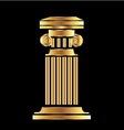 Gold column vector image