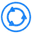 rotate rounded grainy icon vector image