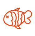 fish nutritive food isolated icon vector image