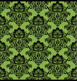 black hohloma on greenery seamless pattern vector image