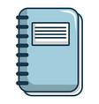 notebook icon cartoon style vector image