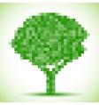 Green pixel tree vector image