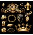 heraldic royal set vector image vector image