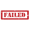 Red stamp failed vector image