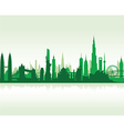 cityscape green flat vector image