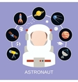 Astronaut and space icons vector image