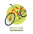bicycle icon design isolated personal transport vector image