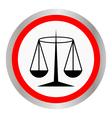 Black Justice scale icon vector image
