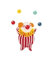 Funny clown on a white background vector image