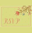 greeting card wedding card vector image