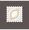 Lemon stamp Outline vector image