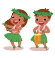 little hula dancers vector image