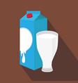 milk and cup isolated vector image