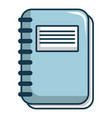 notebook icon cartoon style vector image