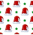 Seamless pattern with winter hat vector image