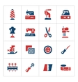 Set color icons of sewing vector image