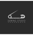 Sewing simple badge vector image