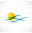 sun sea abstractly icon vector image vector image