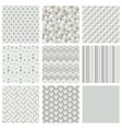 Seamless subtle geometric hipster background set vector image