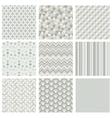 Seamless subtle geometric hipster background set vector image