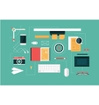 designer desk header vector image