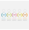 Timeline Infographic colorful hanging circles text vector image