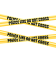 Police Line Do Not Cross tape vector image