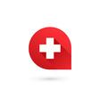 Letter A cross plus logo icon design template vector image vector image
