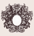 Vintage frame element vector image vector image