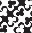Black and white alternating diagonal clubs vector image