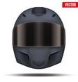 black motor racing helmet with glass visor vector image