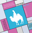 Camel icon sign Modern flat style for your design vector image