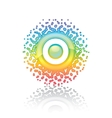 sign rainbow sun vector image