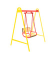 swing seat icon in cartoon style vector image