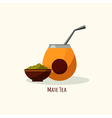 tea icon in flat style Isolated flat vector image