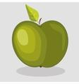 trendy green apple vector image