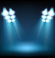Bright stage with spot lights Template for a vector image vector image