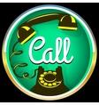 Call button retro phone vector image vector image