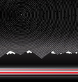 Star Trails with Mountains on Background vector image vector image
