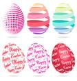 3D Easter eggs set vector image