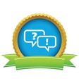 Answering question icon vector image