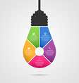 Abstract infographic with light bulb banner vector image
