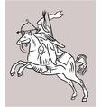 Archer rider horse vector image