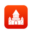 chillon castle switzerland icon digital red vector image