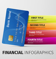 financial infographics vector image
