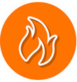 flame line icon vector image