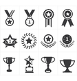 icon trophy award vector image