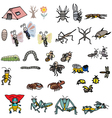 Insects Action vector image